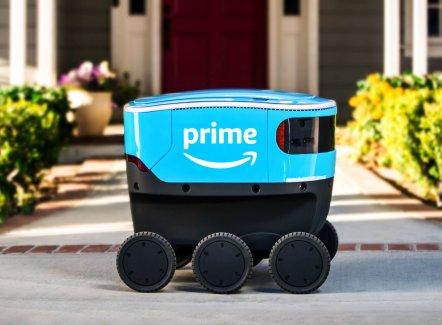 Amazon teste lui aussi des petits robots de livraison