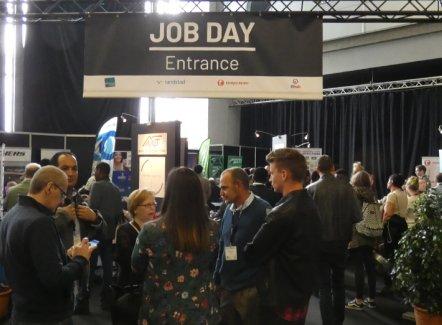 Totaal succes voor de eerste Job Day