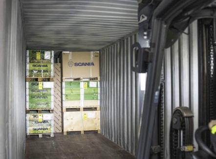 Scania Parts Logistics schakelt (gedeeltelijk) over naar transport via binnenvaart