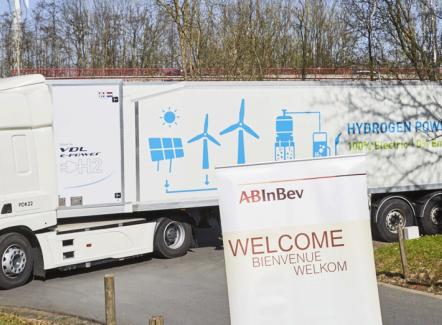 Colruyt Group et AB Inbev veulent développer les livraisons par camion à hydrogène