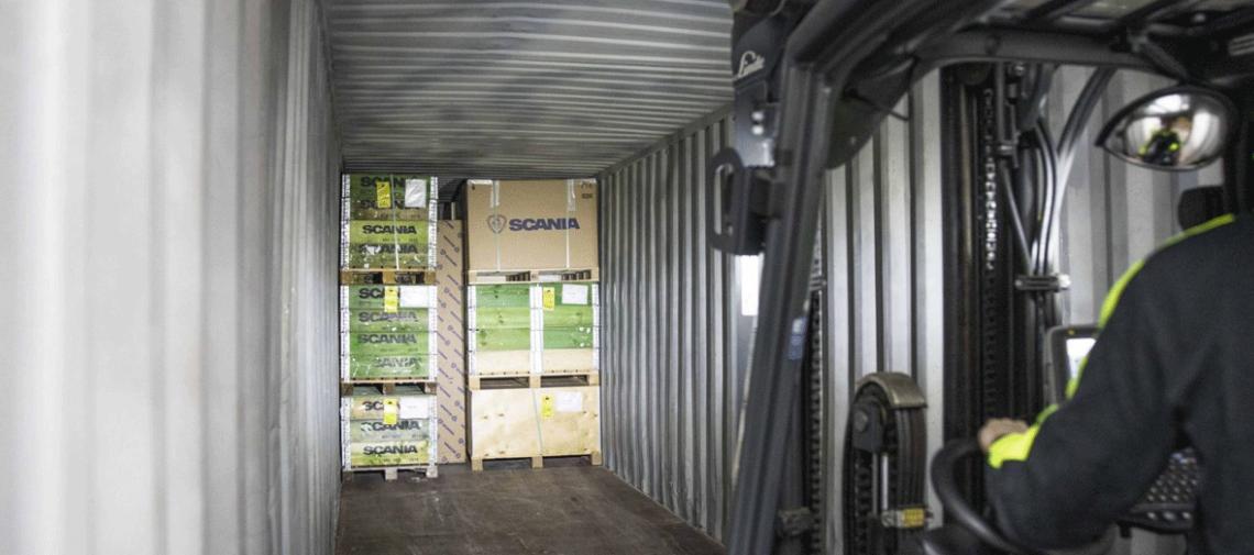 Scania Parts Logistics passe (partiellement) au transport fluvial